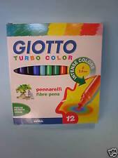 Pennarelli Turbocolor 12 colori giotto conf.1 scuola disegno ufficio