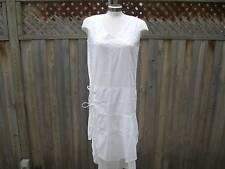 Manori Flowy, White Vneck Dress Size Large
