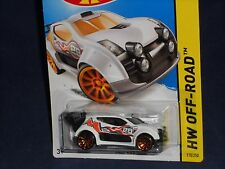 Hot Wheels 2014 HW Off-Road Road Rally #110 New Casting Fast 4WD White