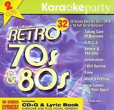 Karaoke Party: More Retro 70s & 80s by Karaoke (CD, Jul-2004, 2 Discs, Madacy)