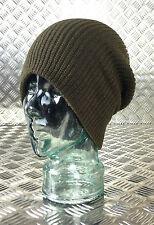 VERT KAKI BONNET TRICOT/BONNET/chapeau en laine - Taille Unique - Neuf