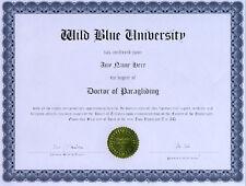 Doctor Paragliding Novelty Diploma Gag Gift