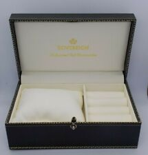 A Vintage Green Leatherette 9ct SOVEREIGN Wristwatch Jewellery Display Box Case