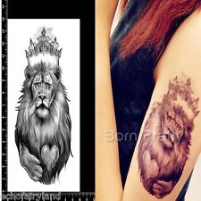 Cool Lion Waterproof Temporary Tattoo Paper Decal Punk Style Body Art