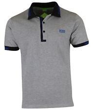 Hugo Boss Men�€™s Paule 4 Collar Detail S/S Cotton Polo Shirt Regular Fit Grey XL
