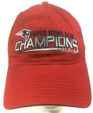 Patriots Champions Hat New England Era Super Bowl XLIX 2014-15 Red 9 Twenty