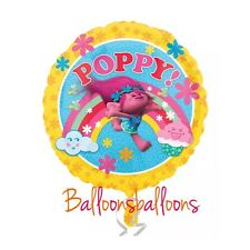 "Princess Poppy 18"" round helium balloon birthday party Trolls"