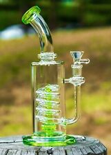 "11"" Premium Slyme Green Glass Rig Set Quality Tobacco Smoking Water Pipe Bong"