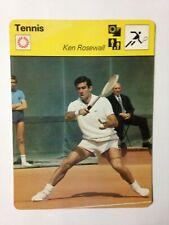 CARTE EDITIONS RENCONTRE 1977 / TENNIS - KEN ROSEWALL