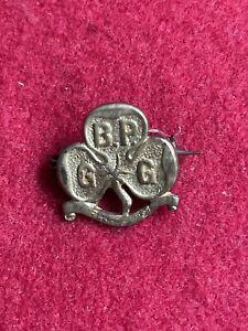 Very Old BP GG Baden Powell Girl Guide Trefoil Original Promise Pin Badge c1910