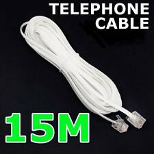 15m Telephone Phone Cord Cable Plug Extension For ADSL2 ADSL Filter Modem Fax