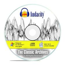 NEW! Audacity Audio Editing software For Windows and MAC + User Guide