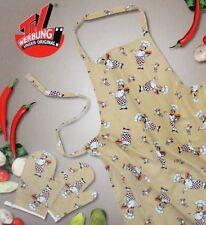 Küchen-Set Küchenschürze Kochschürze Schürze & Handschuhe Ofenhandschuhe 3-tlg.