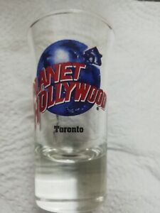 "New Never Used Planet Hollywood Toronto Shot Glass 3 1/2"" Tall Souvenir"
