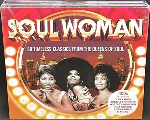 SOUL WOMAN - VARIOUS ARTISTS, 4X CD ALBUM, (2018). NEW AND SEALED.