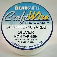 BeadSmith Craft Wire Pro Quality Silver 24 Gauge 10 yards