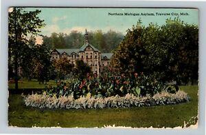 Traverse City MI-Michigan, Northern State Hospital, INSANE ASYLUM c1913 Postcard
