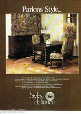 PUBLICITE ADVERTISING 106  1973  salle à manger meubles Styles de France