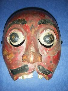 Antique Indonesian mask, wayang topeng, Java?, Sumatra?, no keris, sword, dagger