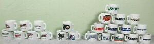 Lot 23 NFL MLB NHL Teams Mini Miniature Ceramic Coffee Mugs Team Logo