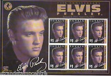 Elvis Presley 25th Anniv UMM Stamp Sheet (Tuvalu)