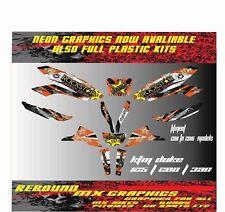 KTM DUKE 125 200 390 Graphics Kit-Sticker Kit-Decals 2011 TO 2016