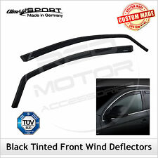 CLIMAIR BLACK TINTED Wind Deflectors FIAT QUBO 2008 onwards FRONT Pair
