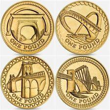 One Pound Bridge set 2004 2005 2006 2007 includes case excellent coins Unc