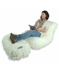 NEW Chaise Lounger | White Faux Fur