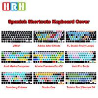 Spanish Hotkey Silicone Keyboard Cover Skin for Macbook Air Pro Retina 13 15 17