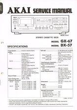 AKAI GX-67 DX-57 Cassette Deck  Manual Schaltplan ORIGINAL und aufwändig GX67