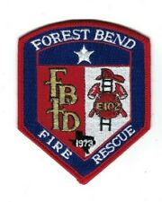 Forest Bend (Harris County) TX Texas Fire Rescue Dept. FBFD patch - NEW!