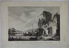 Le VEAU, WEIROTTER, Château sur la Loire Mont-Louis, eau-forte, XVIIIe