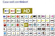 TESSERA  HD 4K SCHEDA  TIVUSAT  D'ATTIVARE  NUOVA  GARANZIA  24 MESI