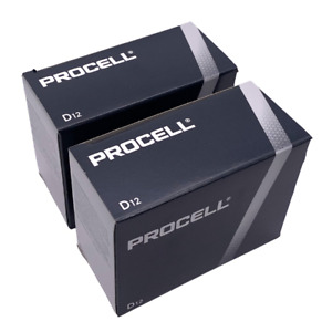 Duracell Procell D Alkaline Batteries 1.5V PC1300 USA 24 Count Expires 2026