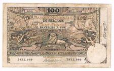 "100 Frank/Franc   type  ""1898""  Montald (arabesk)  20.06.1910     Morin 53a"