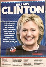 Hillary Clinton 2016 Poster Upfront Magazine/NY Times.20x30, Middle East On Back