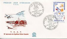 FDC / T.A.A.F. TERRES AUSTRALES TIMBRE N° 73 / EXPEDITIONS POLAIRES FRANCAISES