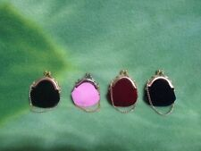 MINIATURE DOLL PURSES VELVETEEN FABRIC CLASP CHAIN SET OF FOUR ACCESSORIES BAGS