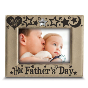 Bella Busta-First Father's Day 2021-Engraved Modern Leather Picture Frame