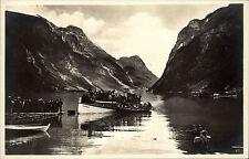 Norwegen Norge Olden See Postcard ~1930 Menschen Oldedolen Schiff Ship Anleger