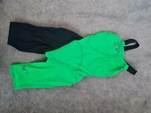 Speedo Fastskin LZR Racer Elite 2 Openback Kneeskin Speedo Size 22 green/black