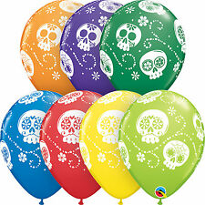 Qualatex 44779 Round Carnival Assortment Sugar Skulls Latex Balloons 25ct 11-in