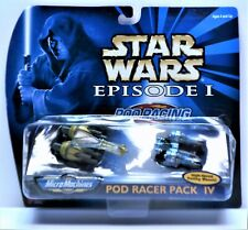 Star Wars Micro Machines Episode I Pod Racer Pack IV Galoob/Tomy Mint Condition