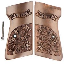 Walther PP PPK/S Walnut Carved Oak Leaf New OE Grips