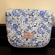 CATH KIDSTON CURVED WELHAM FLOWERS BLUE SADDLE BAG HANDBAG. NEW WITH TAG