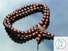 Santos Redwood Natural Wood Bracelet Elasticated Prayer Beads Tibetan Buddhist
