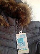 GIRLS SIZE 6-7 winter hooded coat grey Old Navy