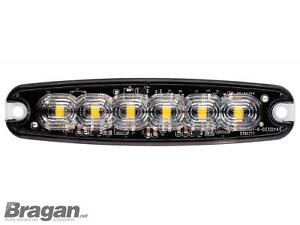 12/24v Bernstein Blitz Blinkende 6 LED Lampen Erholung Lastwagen Pannen Lampe x1