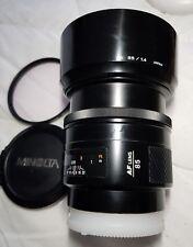 Minolta 85 mm F/1.4 AF Portrait Objectif Pour Sony/Minolta a Mount EXCELLENT + +